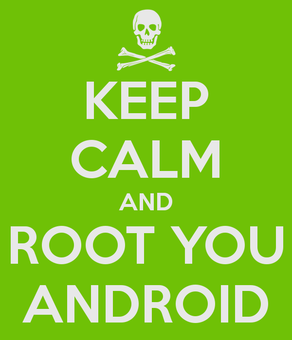 a-skull-and- bones-representation-with-a-text-hat-says-keep-calm-and-root-your-android