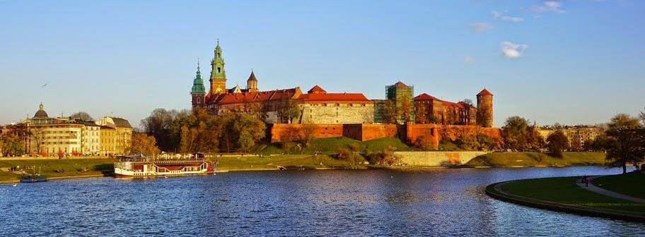 Fotografia de do Castelo Wawel, um dos símbolos da cidade de Cracóvia, na Polónia