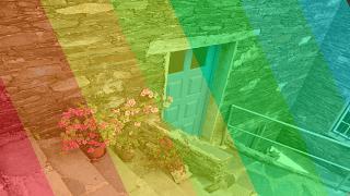 Exemplo filtro 7 cores em foto Paint.NET