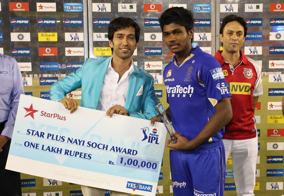 Sanju-Samson-Nayi-Soch-Award-KXIP-vs-RR-IPL-2013