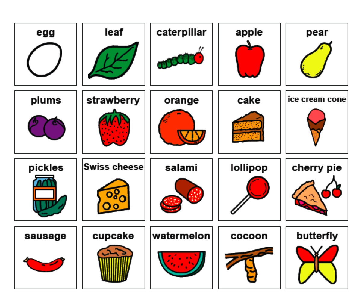 Free Coloring Pages Of Very Hungry Caterpillar 4