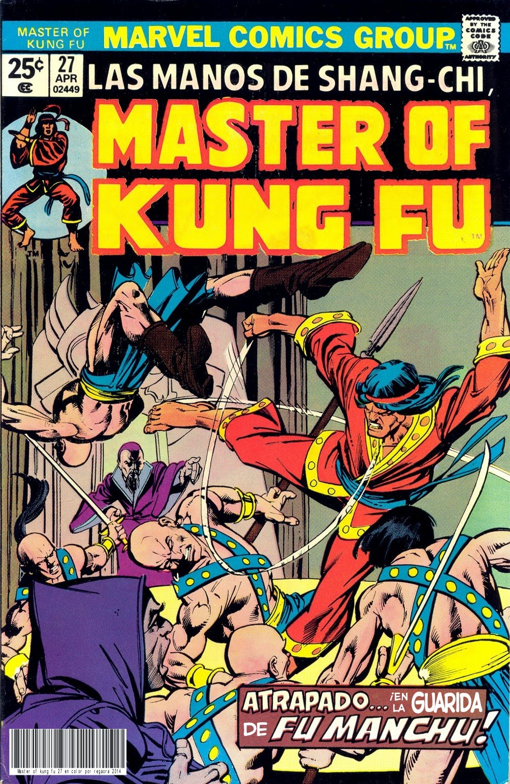 Portada de Master of Kung Fu Nº 27 traducido