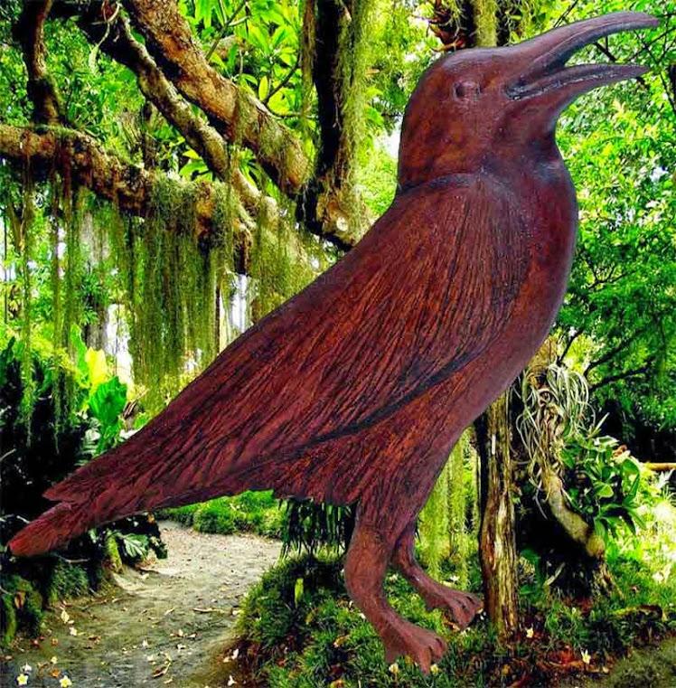 Escultura de um pássaro