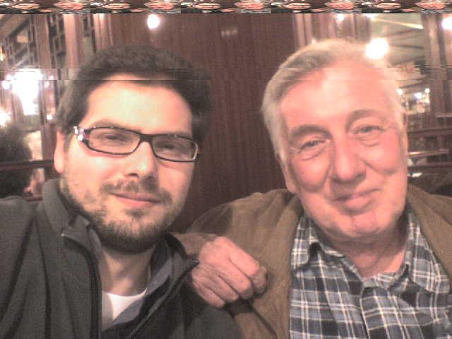 Luca Bagatin con l'attore Peter Boom (novembre 2009)