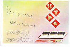 Japonyadan Mesaj var...