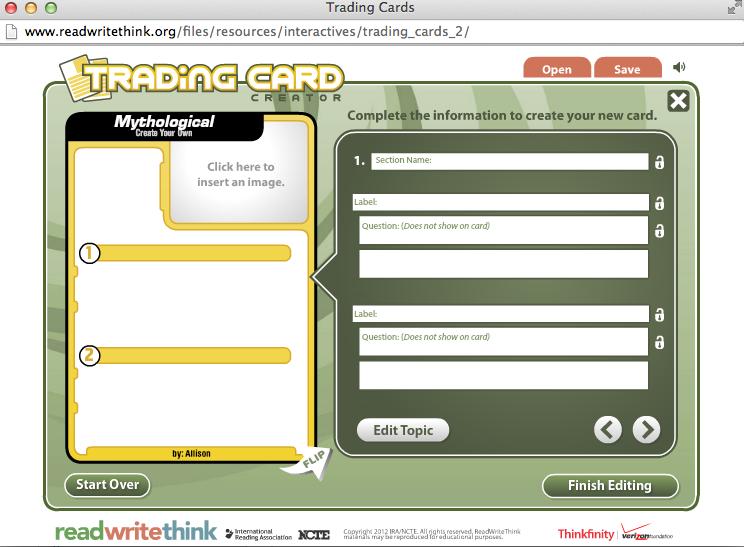 Trading card creator / TrackID option iq 006 sp