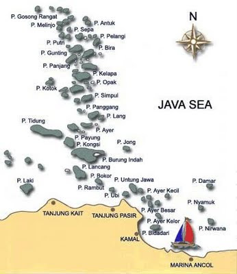 Pulau Seribu Map