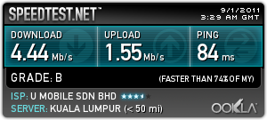 Speed Test in Skypark Terminal,Subang