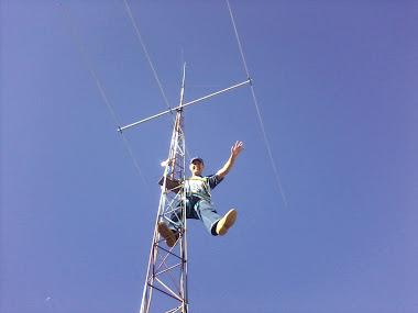 manutenção na antena
