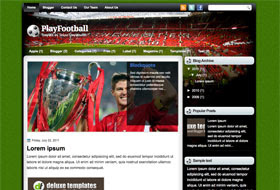 Play Football Blogger Template