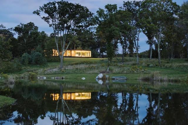 modern home lake