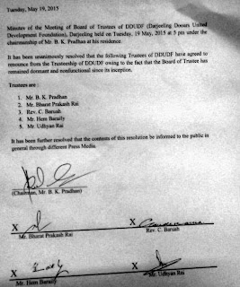 5 members of Mahendra P Lama election trust quit DDUDF