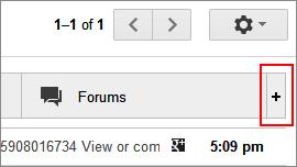 Gmail's tab customize