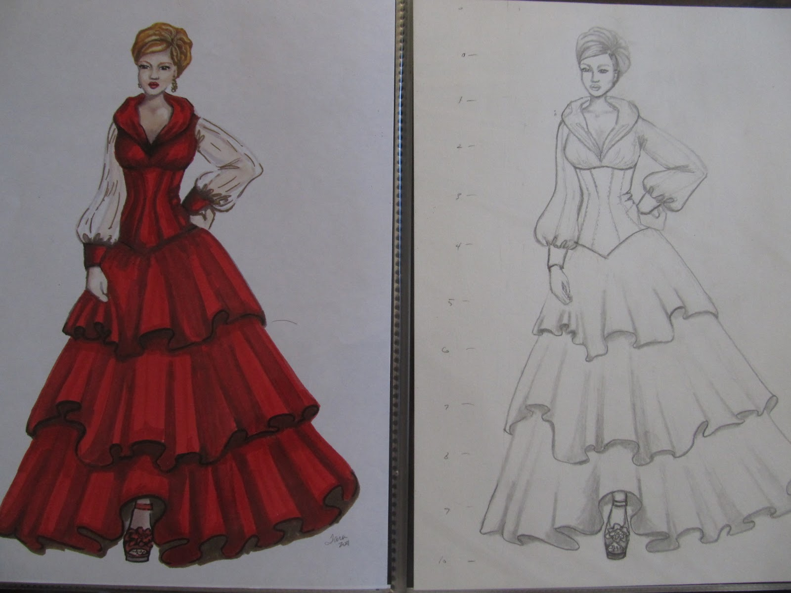 the gallery for gt fashion illustration colour pencil