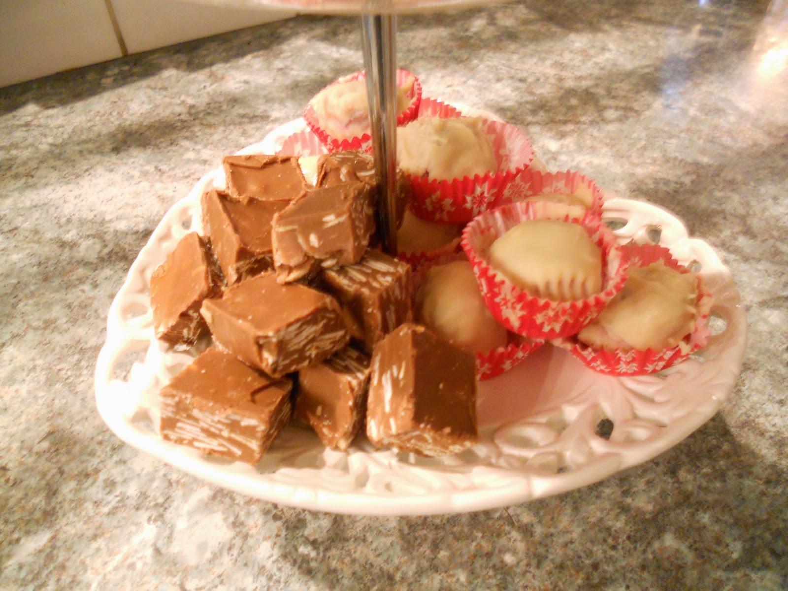chokladtryffel med lingon