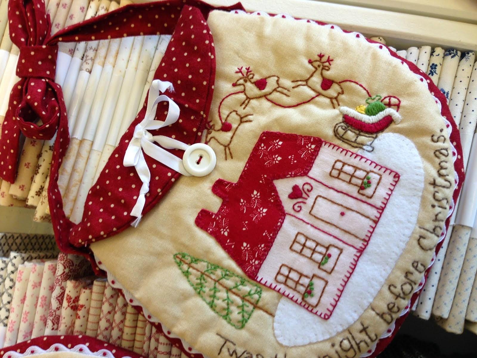 """Enjoy Christmas """"kerst-tasje"""" € 35,00 incl materiaal."""