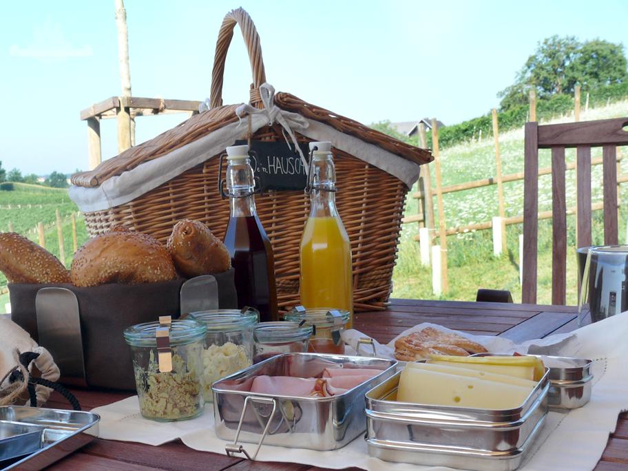 Frühstück Weingarten Resort Unterlamm-Loipersdorf