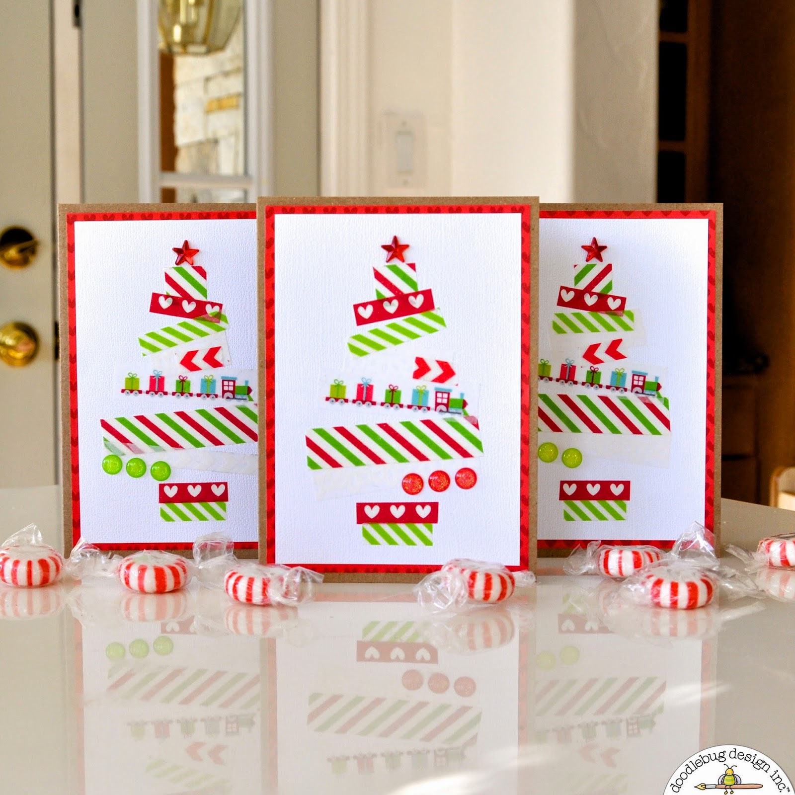 Doodlebug Design Inc Blog: Quick & Easy Washi Tape Christmas Tree ...