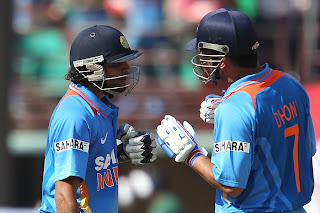 MS-Dhoni-and-Ravindra-Jadeja-India-v-England-2nd-ODI-+Kochi-+January-15-2013