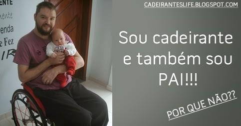 Pai cadeirante