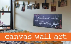 Canvas Wall Art in Dorm Room