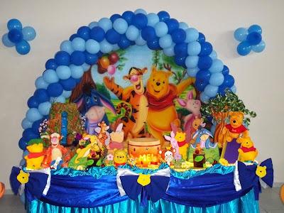 modelos decorações festa aniversário infantil ursinho pooh