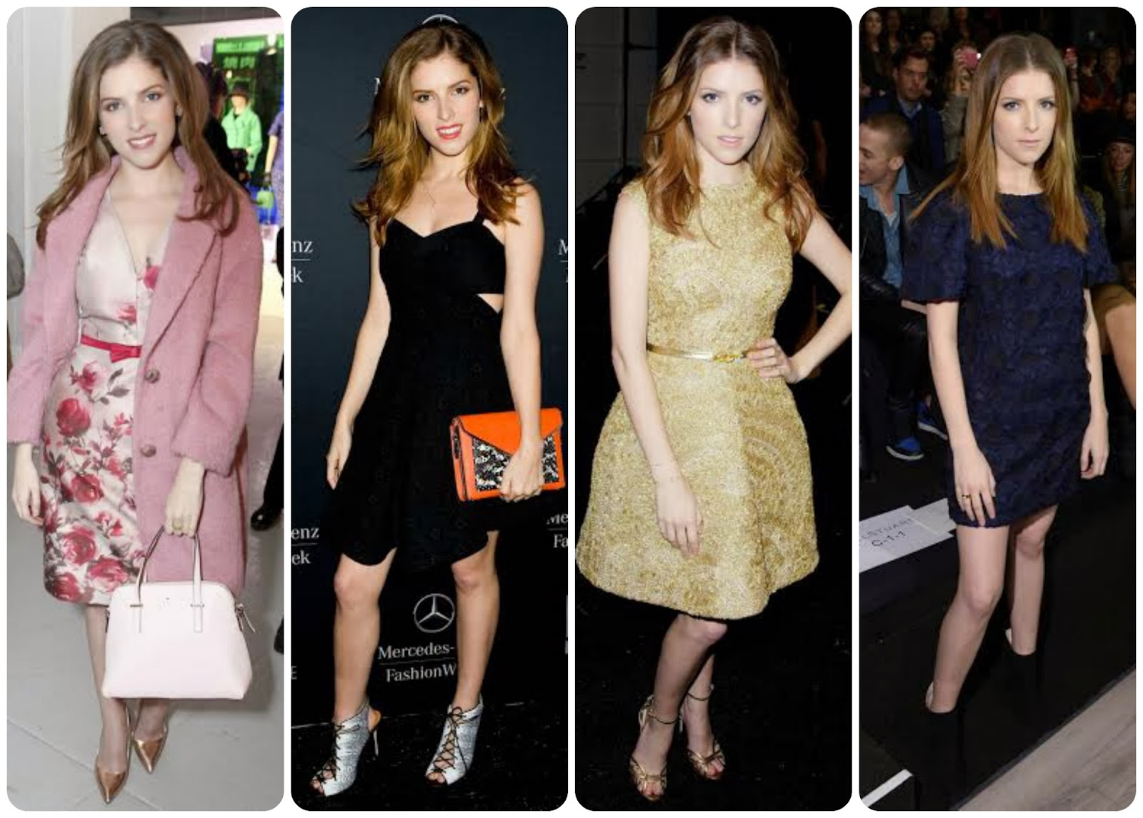 Anna Kendrick attending Monique Lhuillier Kate Spade, Jill Stuart and Rebecca Minkoff fashion show during Mercedes-Benz Fashion Week Fall 2014