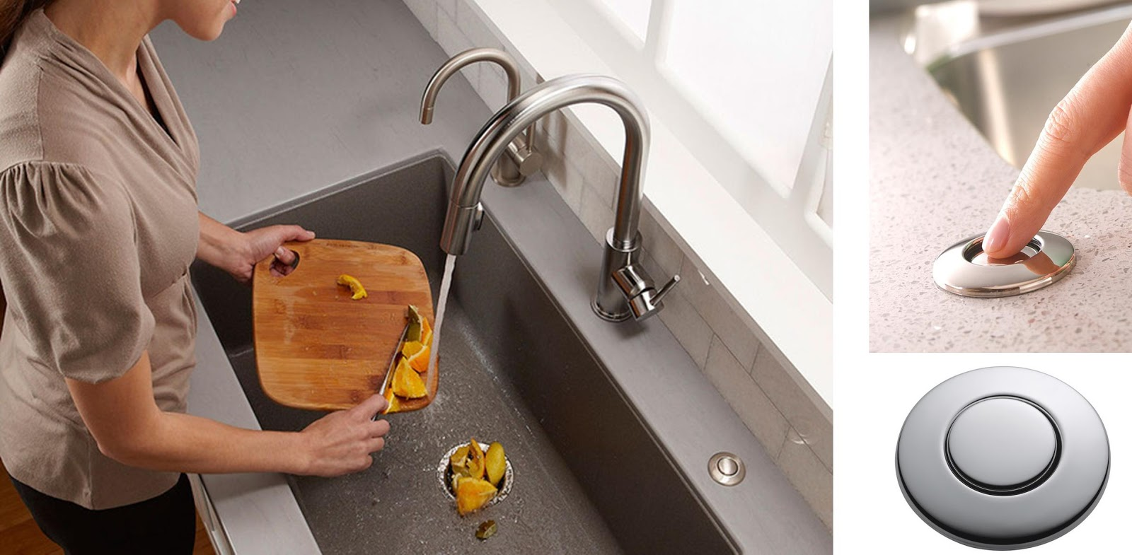 Time2design Custom Cabinetry And Interior Design Kitchen Bath Garbage Disposal Decorator Switch The Stylish Sinktop Is Air Activated Easily Mounts To Sink Or Countertop