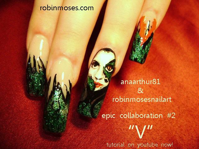 Craft Nail Epic Alien Snake Skin Collaboration Nail Art Design Ftw