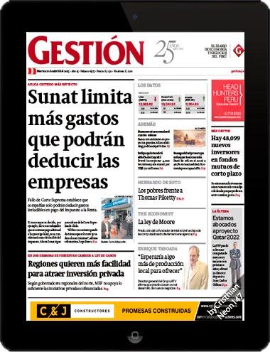 Diario Gestión Perú (21 Abril 2015) ESPAÑOL - Sunat limita más gastos que podrán deducir las empresas