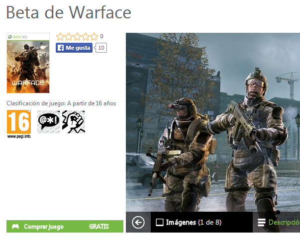 Ya esta disponible la Beta Abierta del free2play Warface