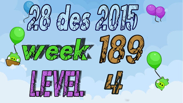 Angry Birds Friends Tournament level 4 Week 189