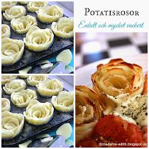 Potatisrosor - Vackra och absolut inte svåra att göra :)