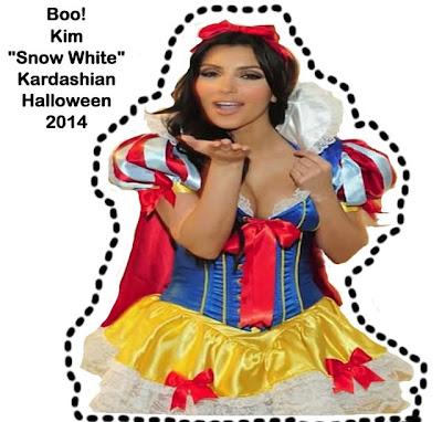 Kim Kardashian snow white Halloween 2014 funny