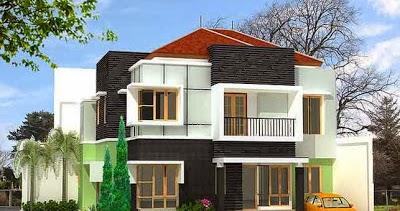 desain gambar model bentuk rumah minimalis modern 2 lantai