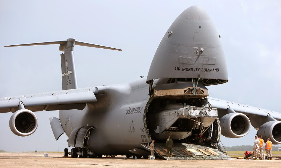 Plane Spotlight  C130 Military Transport Aircraft