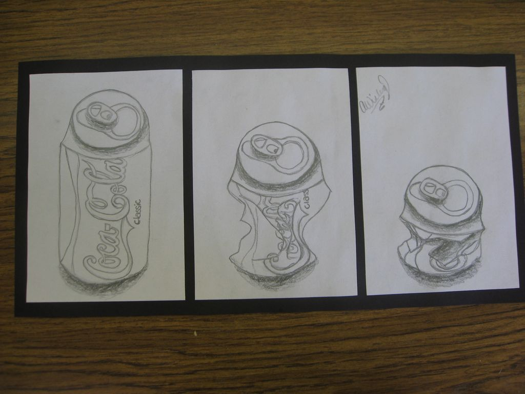 Zoella Line Drawing : Art with mrs smith soda can triptychs
