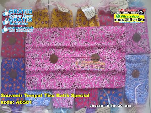Souvenir Tempat Tisu Batik Special murah