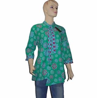 model baju batik wanita berdasi