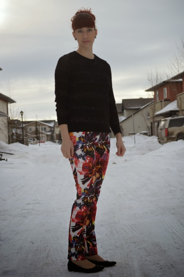 printed pants, pants, cotton