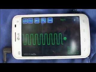 osciloscópio no Smartphone