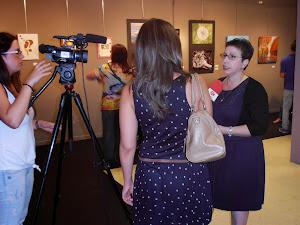 Entrevista de RubíTv en la sala de exposiciones de la antigua estación de Rubí