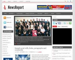 News Report Blogger Template