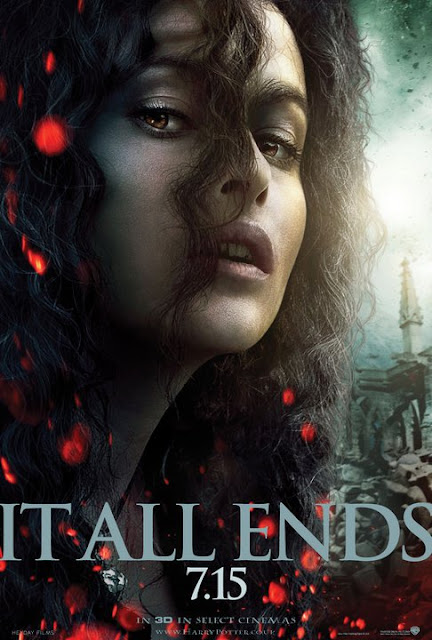 "Posters Snape y Belatrix ""It All Ends"" Harry Potter y las Reliquias de la Muerte Parte 2"