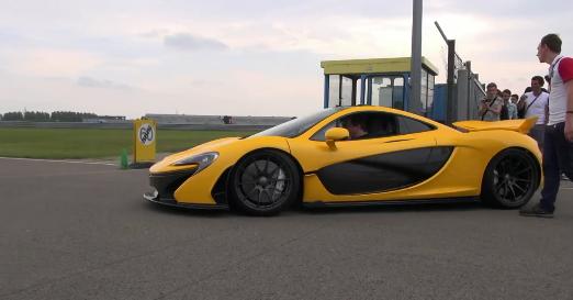 McLaren P1 - En action sur la piste