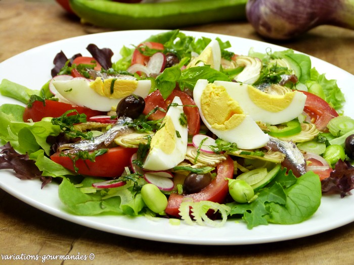 variations gourmandes la salade ni oise la salada nissarda. Black Bedroom Furniture Sets. Home Design Ideas