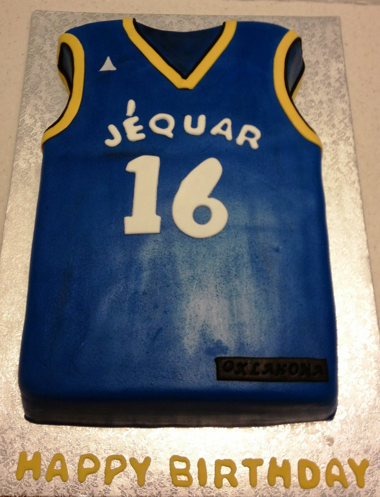 Jersey Cake Template