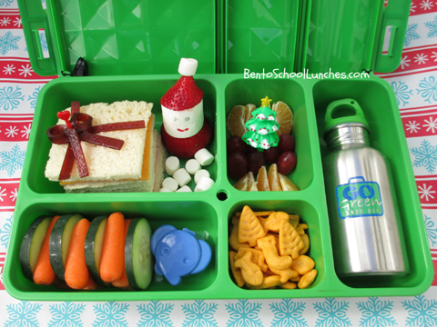 Go Green Lunch Box Review, Christmas Present bento school lunches