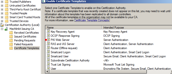 My tech blog pki public key infrastructure with adcs part 8 web the certificate template is now ready for use yadclub Image collections