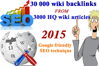 30,000 backlinks from 3000 Wiki articles